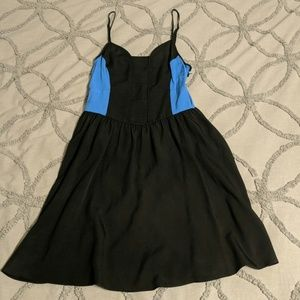 Urban Outfitters Black and Blue Color Block Dress